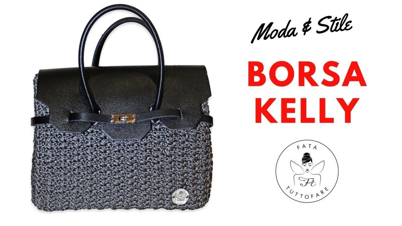 723fe72d44 TUTORIAL: Borsa Kelly/ crochet bag***lafatatuttofare*** - YouTube