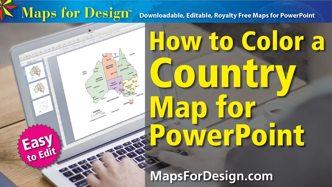 How to Color a World Country Map for Making a Sales Presentation Map