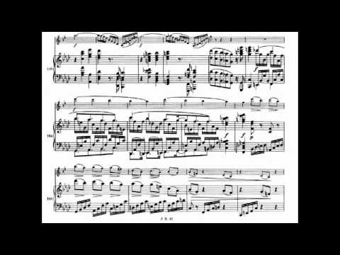 Brahms Sonata No. 1 in F minor for clarinet and piano, Op. 120 No. 1 - I & II
