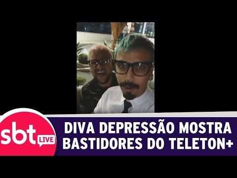 SBT Live Com Teleton+ - Diva Depressão Mostra Bastidores Do Teleton+ | (09/10/17)