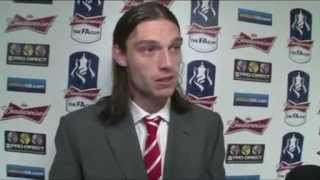 FA Cup Semi-Final Liverpool 2-1 Everton - Andy Carroll interview after the game