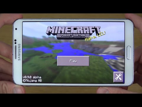 Official Minecraft Pocket Edition 0.9.0 Android Gaming Review (4K)