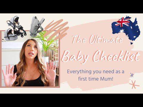 Baby Checklist/registry | Australian Mum | Ultimate First Mum Checklist!