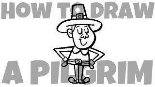How to Draw a Pilgrim (boy)