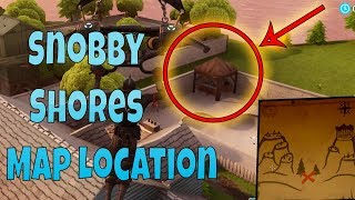 """Snobby Shores Treasure Map Location Guide"" In Fortnite (Week 3 Battle Pass)"