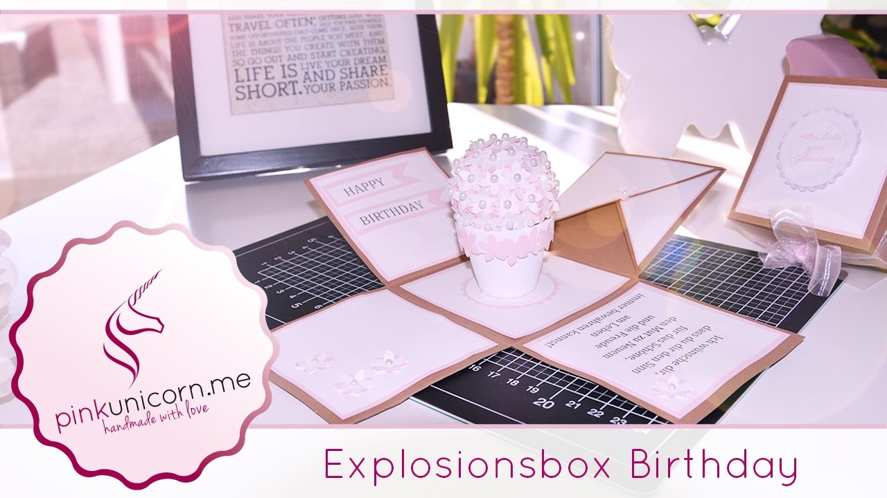 Explosionsbox Geschenk DIY Foto Box Set DIY Explosionsbox inkl Rose Gift