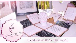 Explosionsbox basteln | Geburtstagsgeschenk | DIY Bastelideen | Anleitung | PinkUnicorn.me