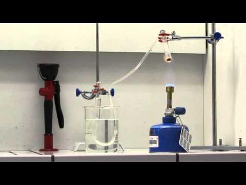 Réaction chimique: thermolyse de l'oxyde de mercure