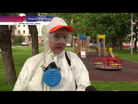 Детские площадки обрабатывают