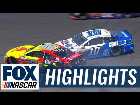 Danica Patrick Collides With a Spinning Dale Earnhardt Jr. | 2017 SONOMA | FOX NASCAR