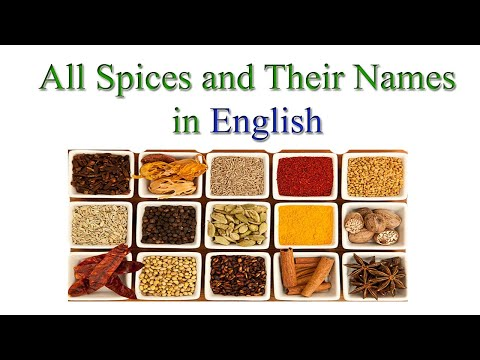 Spices And Their Names With Picture | Spice Names In English | List Of Spices