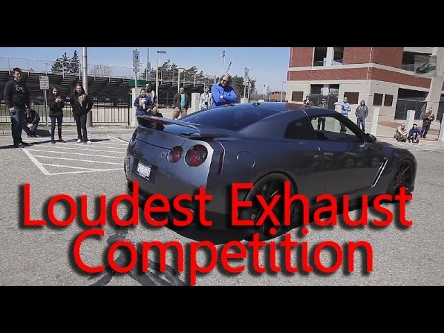 Loudest Exhaust Sound Car Revving Competition Who Has The Loudest