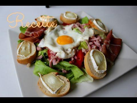 recette-:-salade-de-chèvre-chaud