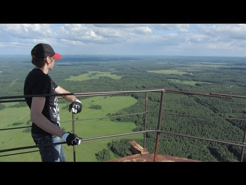 ЗАБРОШЕННАЯ TV ВЫШКА 350 метров /Abandoned TV TOWER 350 meters in russia