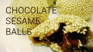 How to Make Chinese Chocolate Sesame Balls