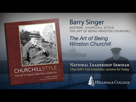 """The Art of Being Winston Churchill"" - Barry Singer"