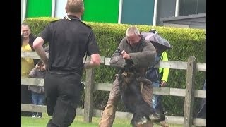 West Midlands Police Attack Dog Demonstration Part - Tally Ho Funday 2014