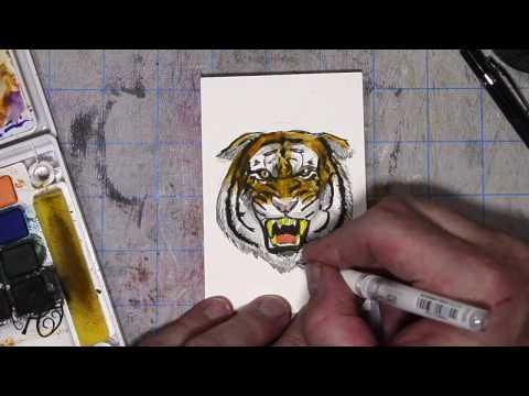 Inktober Angry Tigar