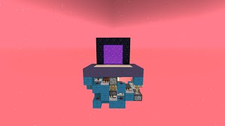 Minecraft PC 1.8: Tiny Hipster Nether Portal - Tutorial (Survival Friendly)