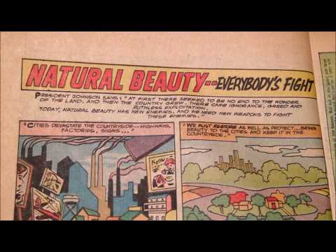 COMIC MAN PRODUCTIONS: NATURAL BEAUTY EVERYBODY'S FIGHT PUBLIC SERVICE BATMAN COMIC BOOK AD 1966