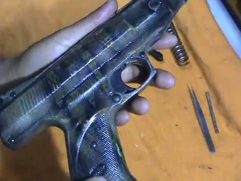 desmontagem e alivio de gatilho da gamo p800