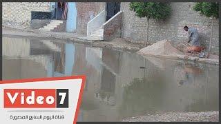 غرق عشرات المنازل فى السويس بمياه الصرف الصحى