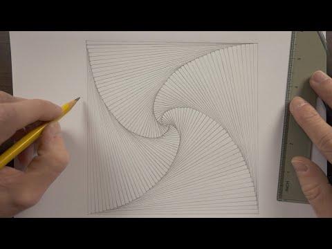 Drawing An Optical Illusion   ASMR