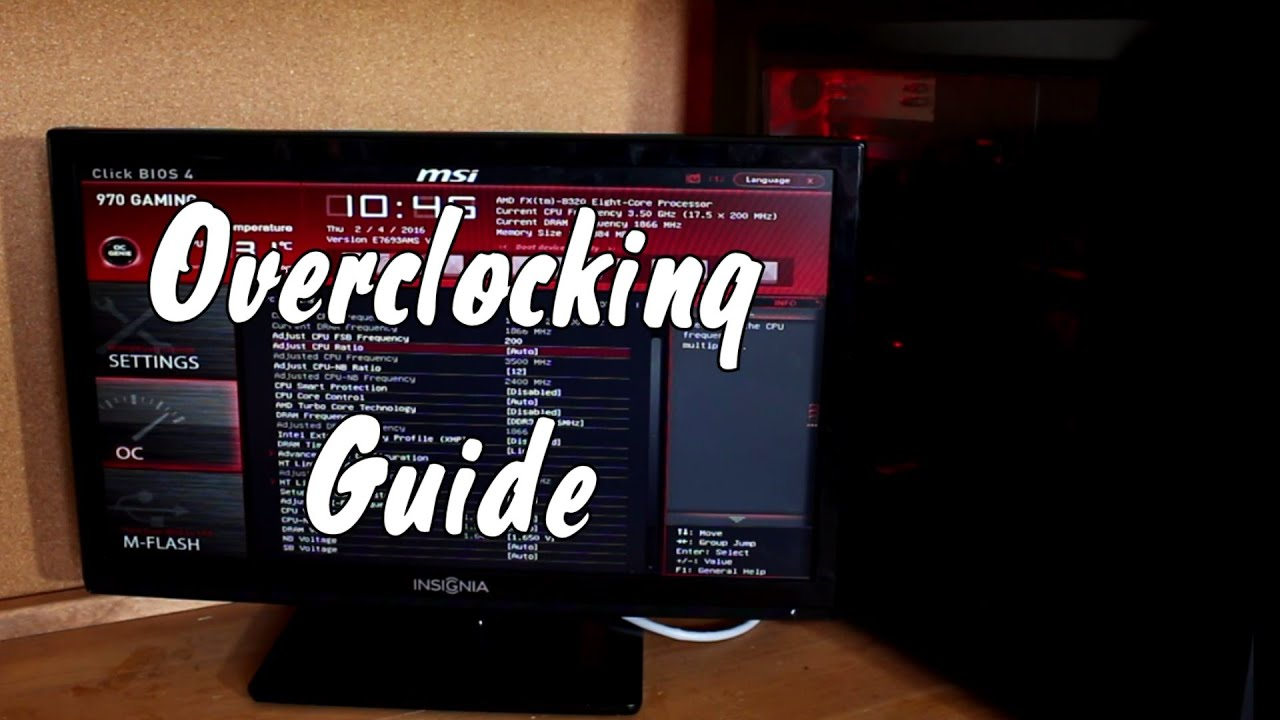 How to Overclock on the MSI 970 Gaming Motherboard (CPU: fx 8320)