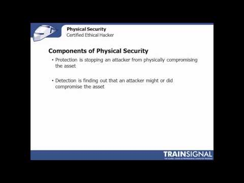 68 Ethical Hacking - Definition of Physical Security