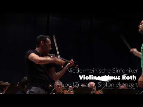 Probe zum 1. Sinfoniekonzert mit Linus Roth • Niederrheinische Sinfoniker