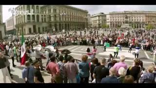 flashmob méxico en italia chihuahua en milán témari en duomo di milano por siempre
