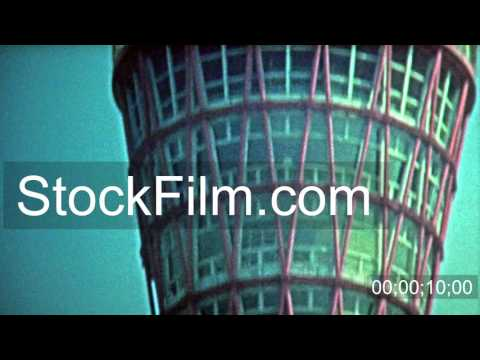 1972: Kyoto tower and harbor building constructions. TOKYO, JAPAN