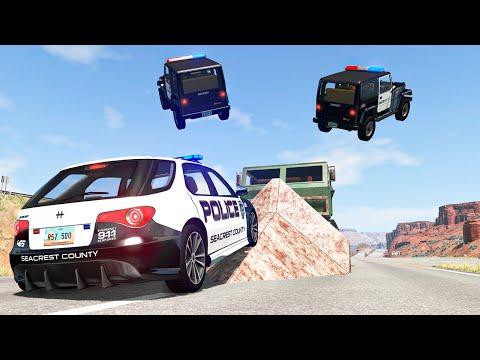 Police Car Chases #28 - BeamNG DRIVE | SmashChan