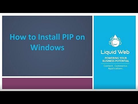 Installing PIP on Windows