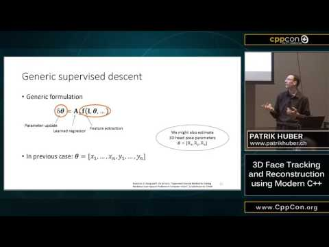 "CppCon 2015: Patrik Huber ""3D Face Tracking and Reconstruction using Modern C++"""