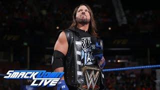 Samoa Joe bir öfke: SmackDown CANLI, Ağu içine AJ Styles gönderir. 14, 2018