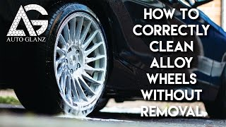 How To Correctly Clean Alloy Wheels Without Removal Tutorial Video
