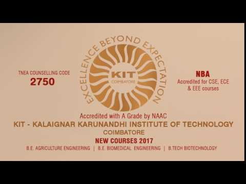 KIT New Courses | Counselling Code 2750 | Accredited with 'A' Grade by NAAC | Accredited by NBA