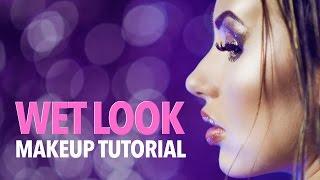 Wet look makeup & hair tutorial
