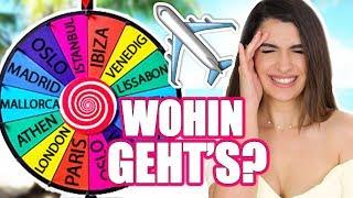 GLÜCKSRAD ENTSCHEIDET WOHIN WIR FLIEGEN! ✈️ | URLAUB BUCHEN PER ZUFALL | KINDOFROSY