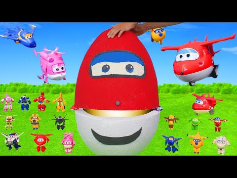 Super Wings Surprise Egg Unboxing: Toy Vehicles from Jet, Donnie, Jerome & Dizzy for Kids
