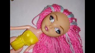 Как делать красивые волосы для куклы Монтер Хай, барби, из обычных ниток