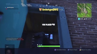 Fortnite solo's, account level 344, PS4 Pro, fast builder