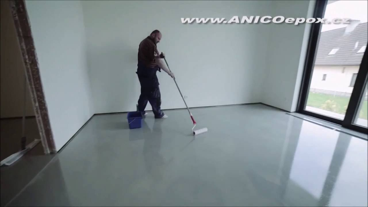 How to install epoxy design flooring - Colota gietvloeren - YouTube