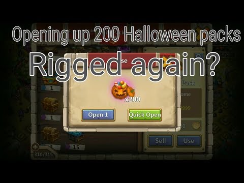 Opening Up 200 Halloween Packs L Castle Clash