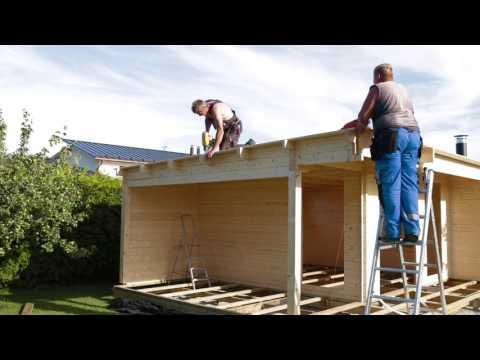 Hur man bygger och installerar en timmerstuga från Attefallshuset24