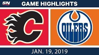 NHL Highlights | Flames vs. Oilers - Jan. 19, 2019