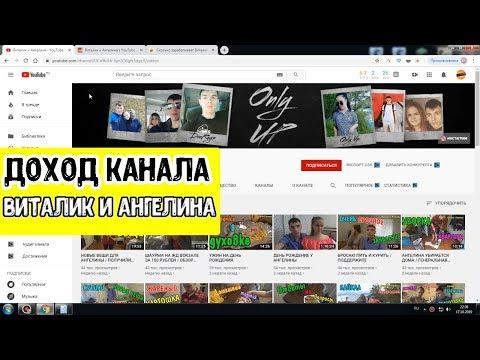 Доход канала ВИТАЛИК и АНГЕЛИНА на Ютубе За все время!