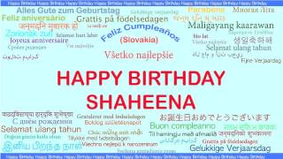 Shaheena   Languages Idiomas - Happy Birthday