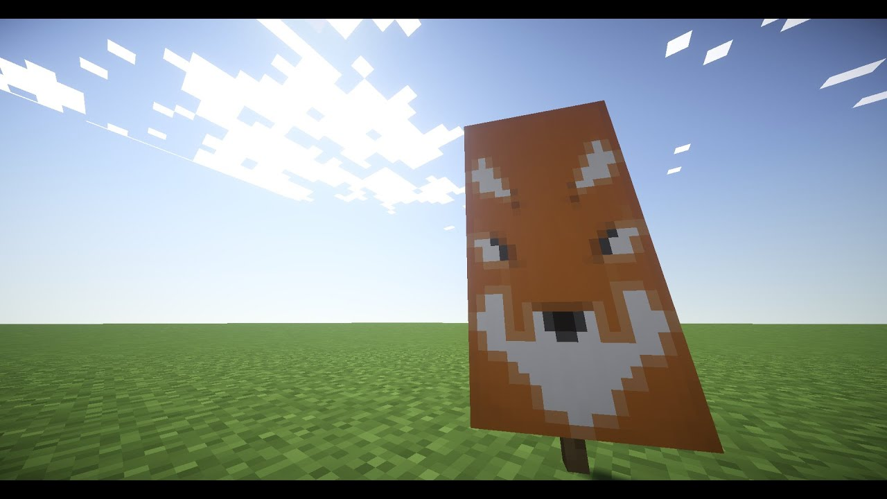 how to make a fox banner in minecraft youtube